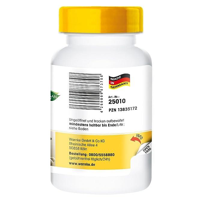 L-triptófano 500mg - 100 cápsulas veganas - productos para la salud Warnke: Amazon.es: Salud y cuidado personal