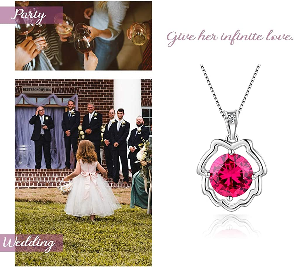 Aurora Tears Zodiac Constellation Necklaces Women 925 Sterling Silver Crystal Birthstone Pendant Cubic Zirconia Birth Jewelry Girls Charm Dating Jewelry DP0134