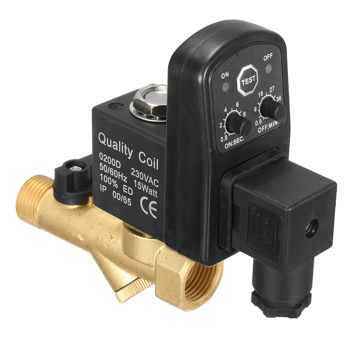 KISENG 1/2'' Automatic Electronic Drain Valve Electromagnetic Timed Air Compressed Electrotim Solenoid Valve
