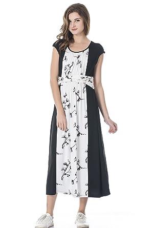 2ce053e9ef6 Bearsland Women's Maternity Summer Long Style Sleeveless Breastfeeding Nursing  Dresses