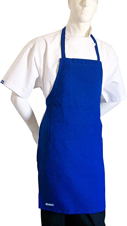 NAVY BLUE YELLOW ROYAL BLUE PURPLE CHEFSKIN ADULT APRON WITH POCKET GREEN LAVENDER POLYESTER FABRIC SUPER LIGHTWEIGHT AND COMFORTABLE EASY WEAR EASY WASH WONT FADE WONT SHRINK AVAILABLE IN WHITE RED ORANGE CHOCOLA LIME BLACK BEIGE BABY BLUE