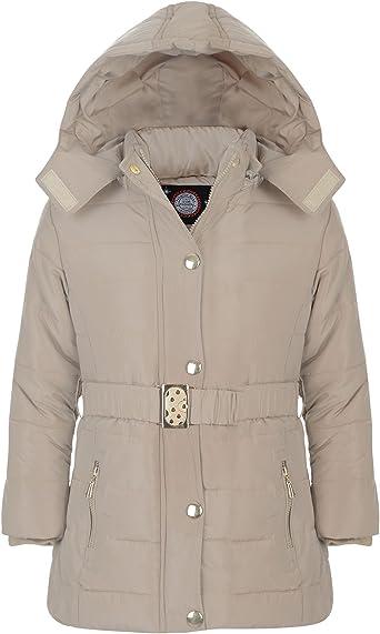 manteau matelassé avec ceinture fille pas chers