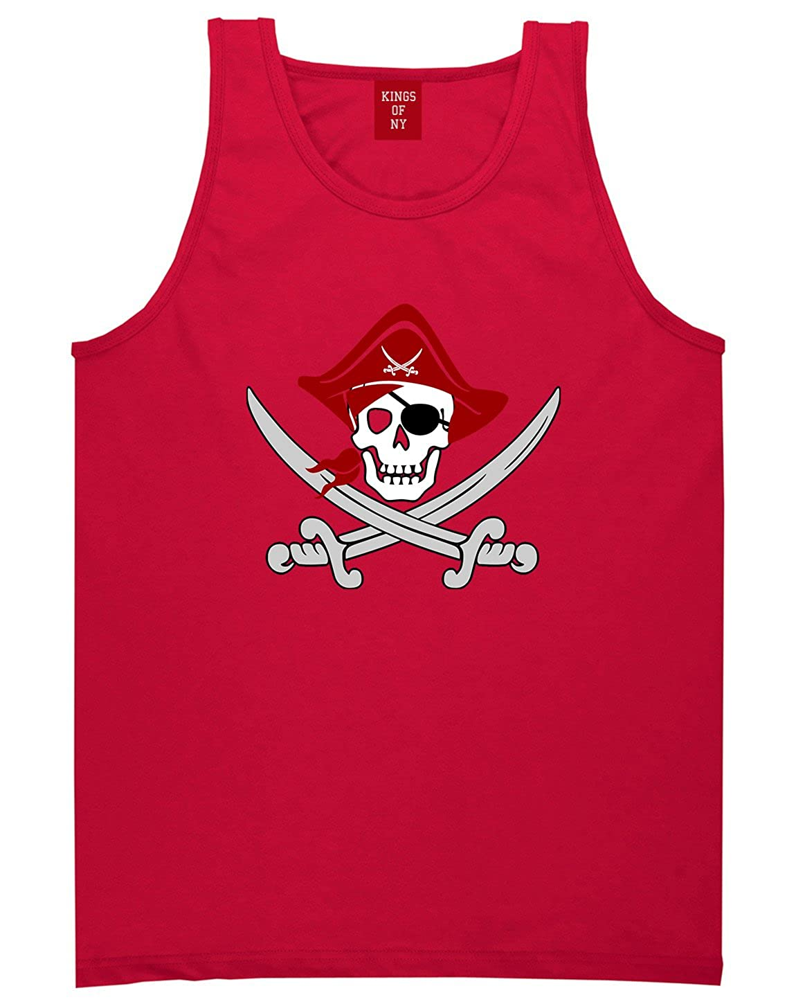 Kings Of NY Pirate Captain and Swords Mens Tank Top Shirt