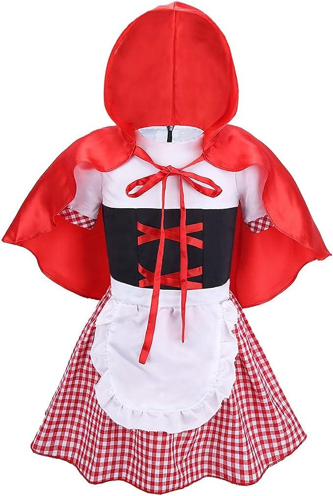 dPois Disfraz Caperucita Roja Niña Bebé Vestido de Fiesta Carnaval ...