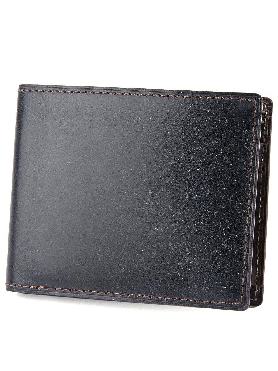[エルゴポック] HERGOPOCH 二つ折り財布 BLW-WT2 ブライドルレザー Bridle Series ブライドルシリーズ B00YDQT666ブラック