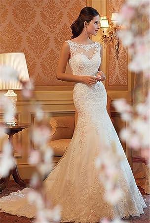 HAPPYMOOD Vestido de novia de mujer Vestido largo Fiesta Escenario Diseño unico Vestido de novia Regalo