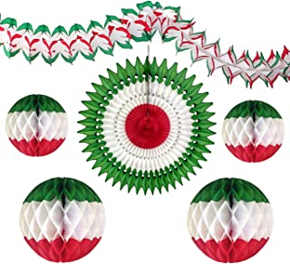 product image for 6-Piece Viva Mexico Party Decoration Kit, Green White Red
