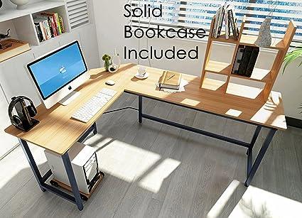 Modern L Shaped Desk Corner Gaming Computer Desk PC Latop Study Table  Workstation Home Office