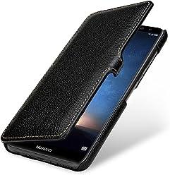 StilGut Housse pour Huawei Mate 10 Lite Book Type en Cuir à Ouverture latérale avec Fermeture clipsée, Noir