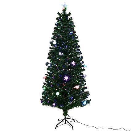 Goplus 6.5FT Fiber Optic Christmas Tree Pre-Lit Artificial Fireworks Spruce  Tree w/ - Amazon.com: Goplus 6.5FT Fiber Optic Christmas Tree Pre-Lit