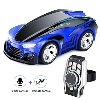 SHIJIEBEI 2018 Upgraded Remote Control Car, Rechargeable Toy Voice Control Car, Command by Smart Watch, Creative Voice-Activated car for Kids, Durable ...