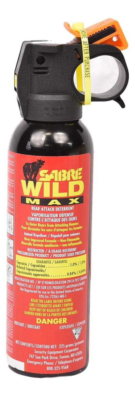 Sabre Wild Max Bear Spray Maximum Range - 9 Meters (225 gm)