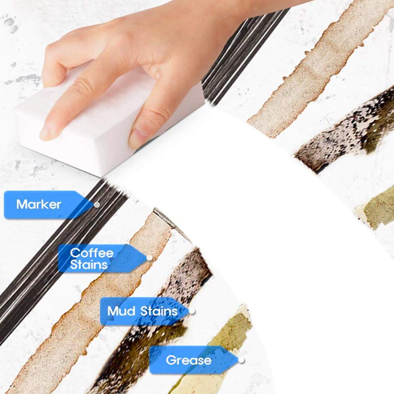 10 * 6 * 2cm Non Odor Sponge Use for Kitchens,Bathtub Magic Cleaning Eraser Sponge Multi Surface Power Scrubber Foam Pads Floor High Density Nano Baseboard 10 Pack Furniture,Car