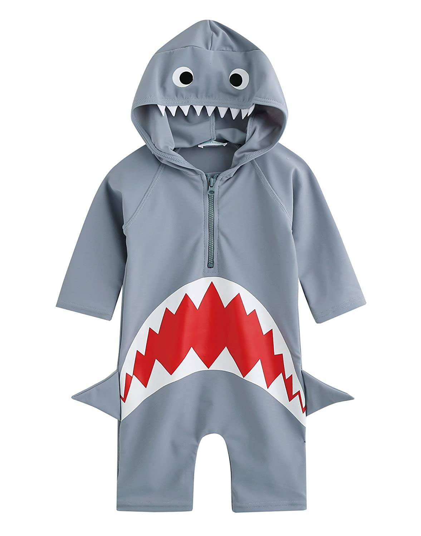 Vaenait Baby 0-24M Baby Boys Swimsuit Rashguard Swimwear Real Jaws BSW_037-1