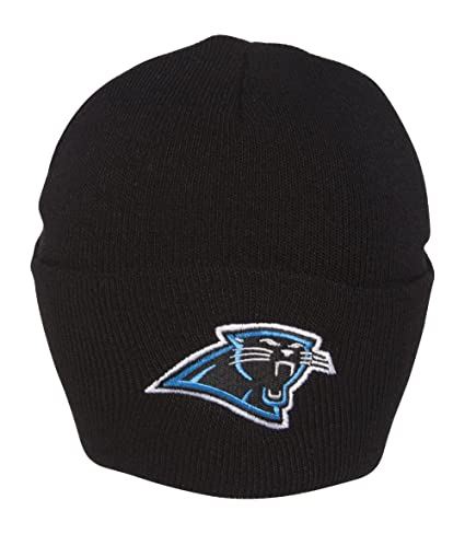 Amazon.com   NFL Beanie Carolina Panthers - Cuff Black   Panthers ... 23581c26b81