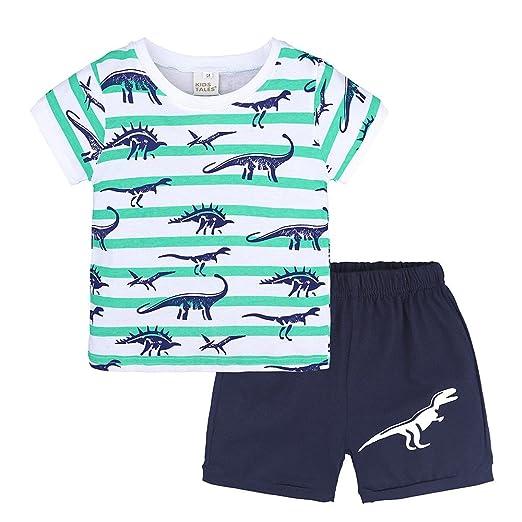 f118f5080 Amazon.com  SUNBIBE Toddler Kids Baby Boys Dinosaur Pajamas Cartoon ...