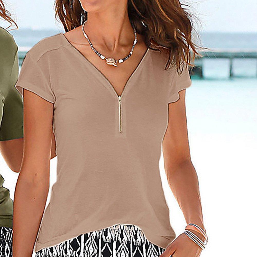 Frauen Sommer Blumendruck Kurzarm Front Crisscross V-Ausschnitt T-Shirt Bluse