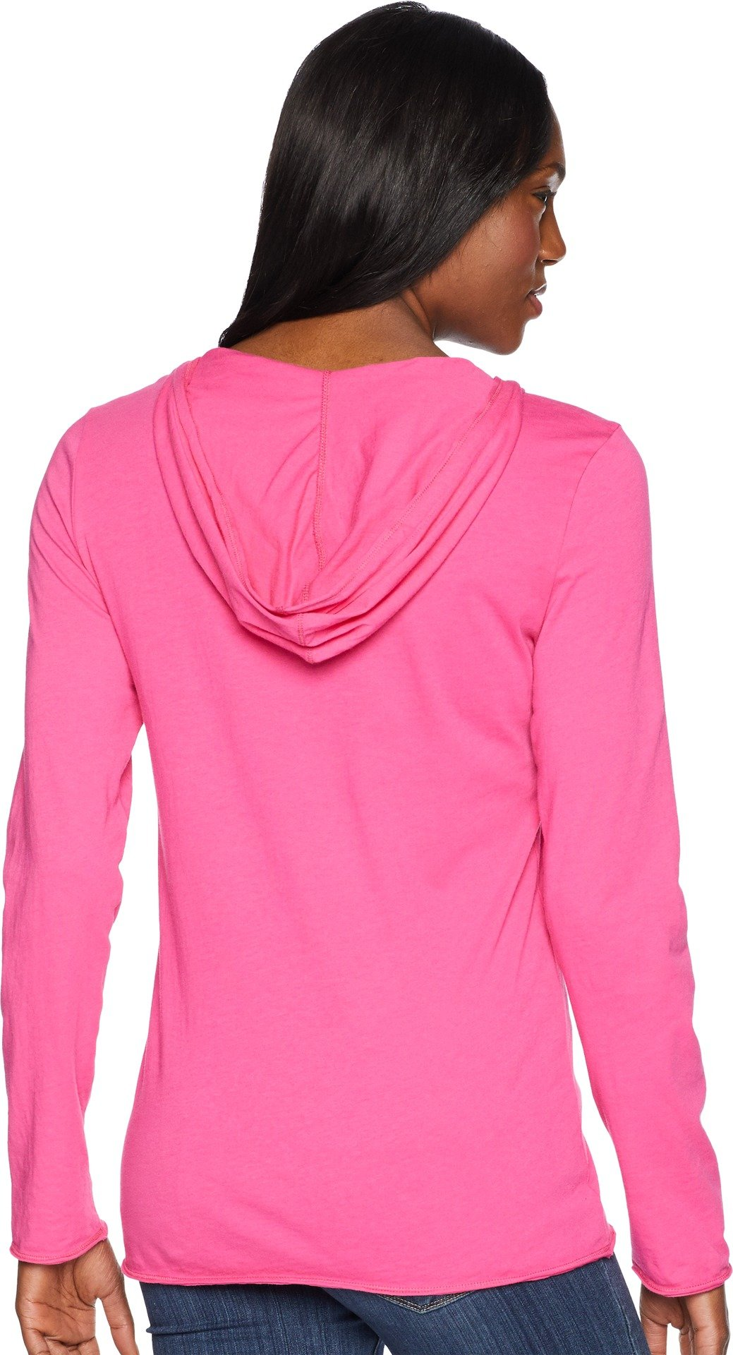 Life is Good Womens Hooded Smooth Longsleeve tee Daisy Love, Fiesta Pink, Large by Life is Good (Image #3)
