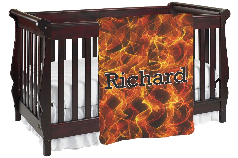 Fire Baby ブランケット (カスタマイズ可) Baby Blanket ブラック mi-baby-blanket-fb+1355585 両面  B0778ZPK23