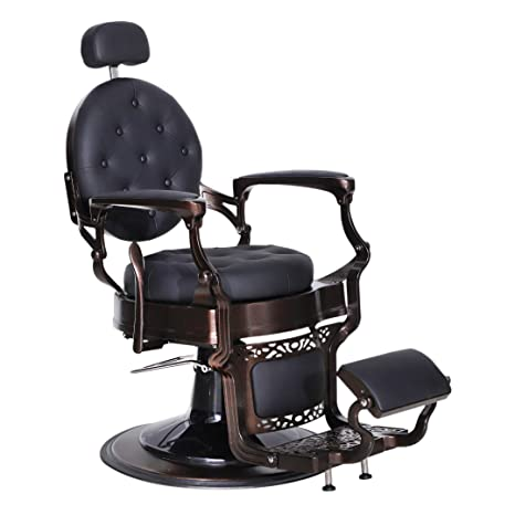 Astounding Barberpub Heavy Duty Metal Vintage Barber Chair All Purpose Hydraulic Recline Salon Beauty Spa Chair Styling Equipment 3849 Black Pabps2019 Chair Design Images Pabps2019Com