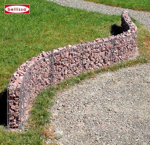 Belissa gabionenzaun geschwungene Mauer