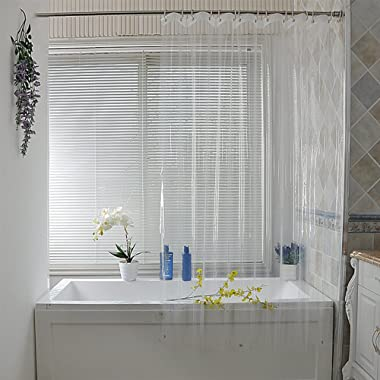 Eforcurtain Clear PEVA Shower Curtain Liner with Magnets Waterproof, Odorless, Mildew Resistance, Eco Friendly, 70x70 Inches