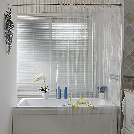 Eforcurtain Extra Long 72 By 78 Inch PEVA Shower Curtain Liner Clear With 3  Magnets