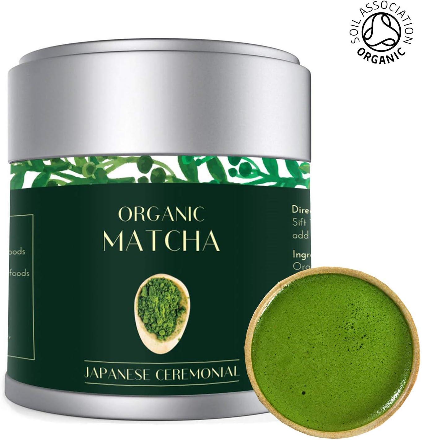 Té Verde Matcha - Orgánico 30g   Premio Ceremonial Japonés   Bio Orgánico certificado por JAS Japan EU Organic   Producto de Uji Kyoto Japan   Mejor para la pérdida de peso,