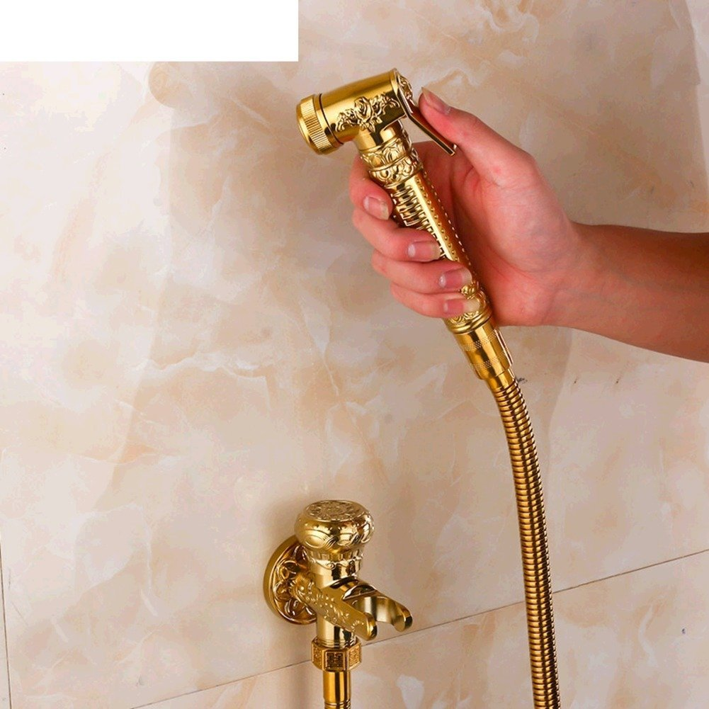 All copper gilded Continental bidet/Bidet nozzle hole/Leading Sets/Cleaner/Women washing-A by Bidet Faucets
