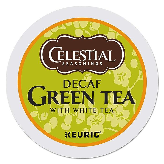 Celestial Seasonings Decaf Green Tea, K-Cup Portion Pack for Keurig K-Cup Brewers, 24-Count