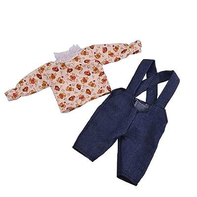 18 pouces American Girl Doll Fashion StyleDoll vêtements denim jarretelles vêtements (C)