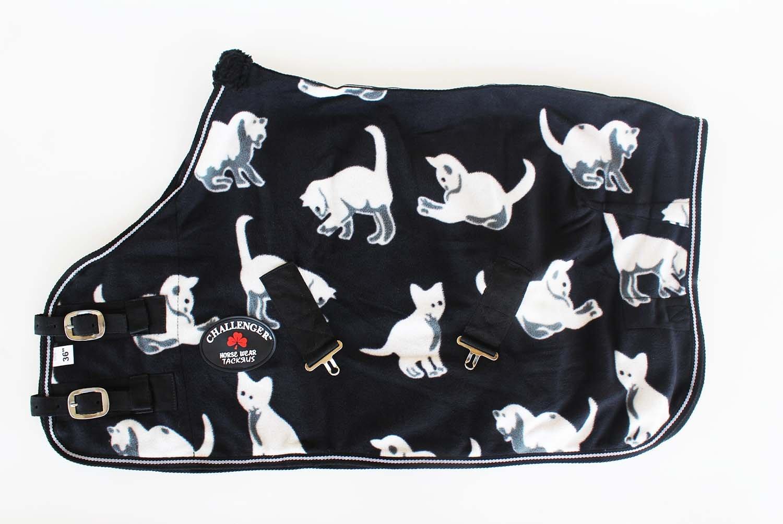 CHALLENGER 42'' Horse Lightweight Polar Fleece Cooler Moisture Wicking Blanket Sheet Cats 51601
