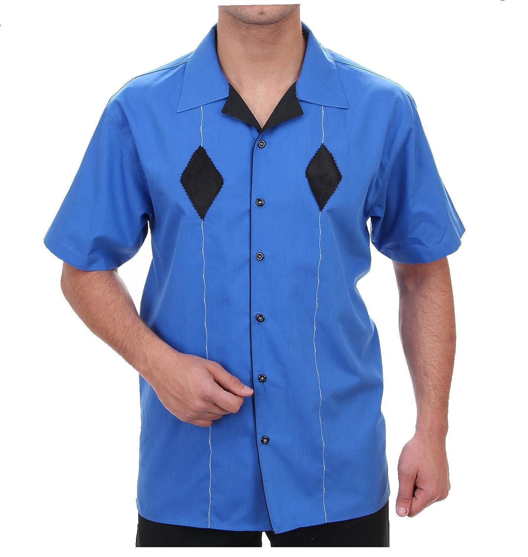 Dart Camisa En Royal Azul, para hombre mejor calidad, HK almendra Bowling camisa de manga corta Slim Fit, 1005 - 1 Azul Real XXL: Amazon.es: Ropa y accesorios