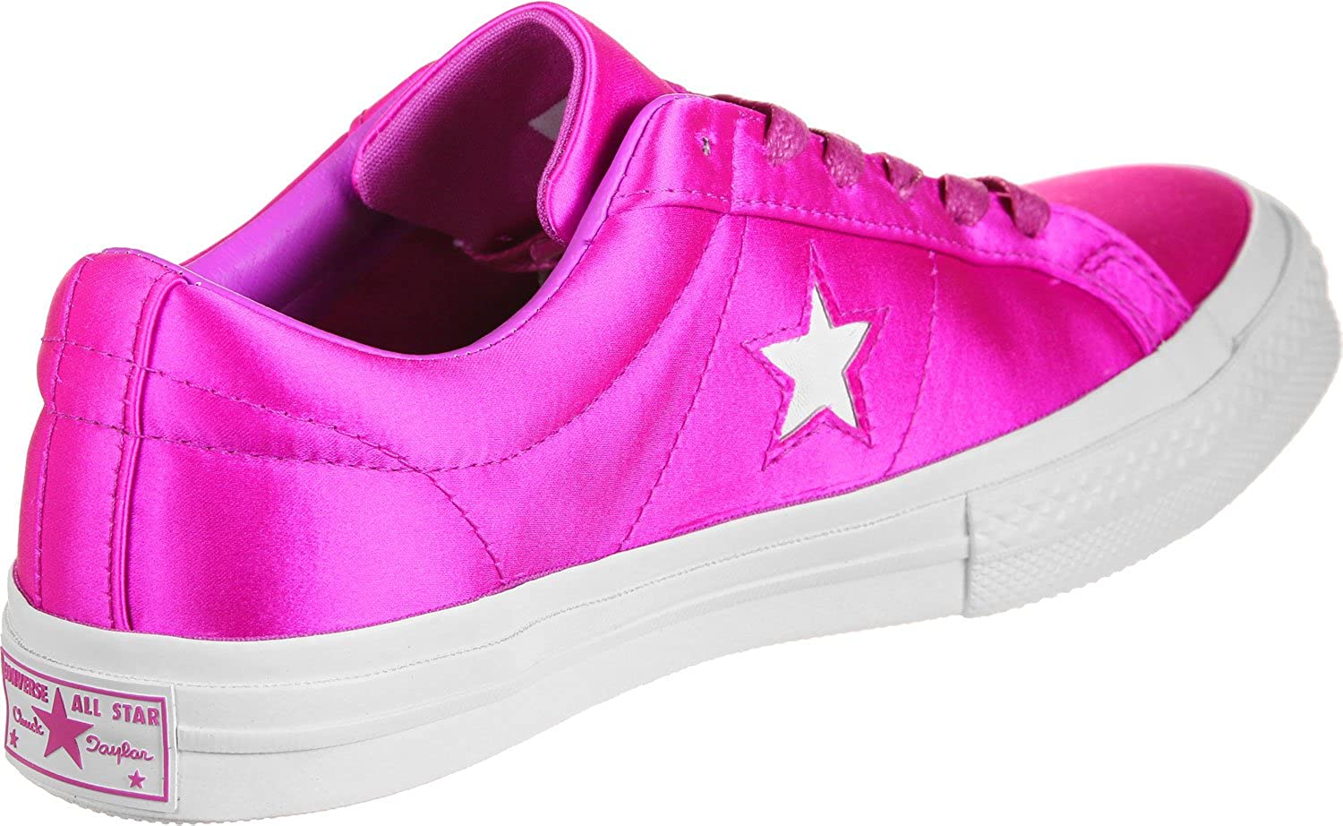 Converse Men's One Star Suede Ox Sneakers Neon Pink 9561