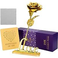 ProCIV Gold Roses 24K Gold Foil Artificial Rose Flowers in Gift Box