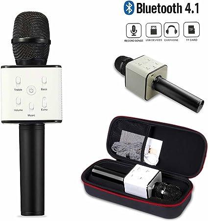 Q7 inalámbrico Karaoke Micrófono/portátil Bluetooth altavoz de ...