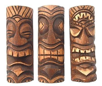 Amazon set3 6 inch tiki statues tiki bar decor toys games set3 6 inch tiki statues tiki bar decor stopboris Images