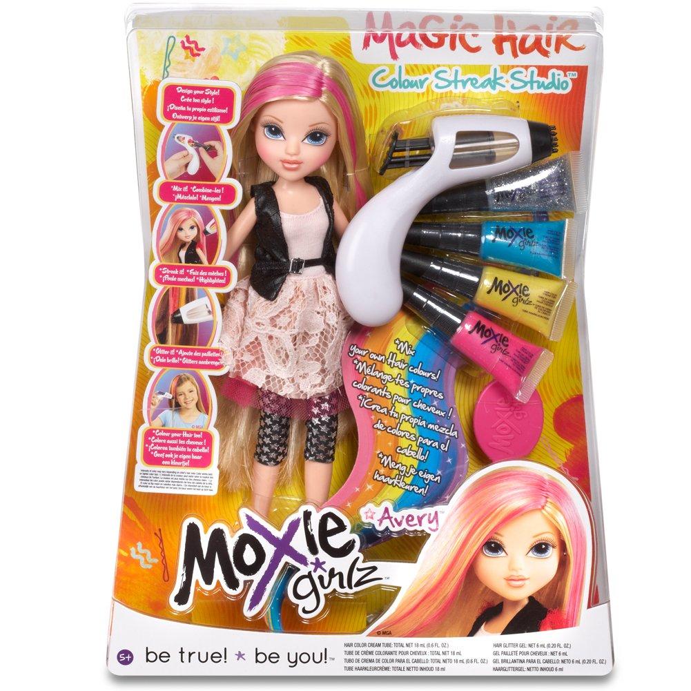 moxie girlz magic hair doll avery amazon co uk toys u0026 games