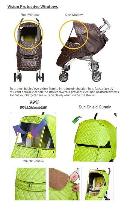Amazon.com: Manito Castillo Alpha carriola Weather Shield (5 ...