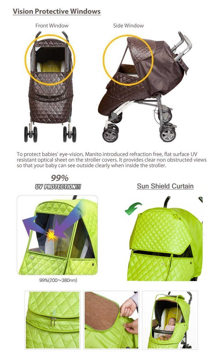 Manito Castle Alpha Stroller Weather Shield (Chocolate) by Manito (Image #4)