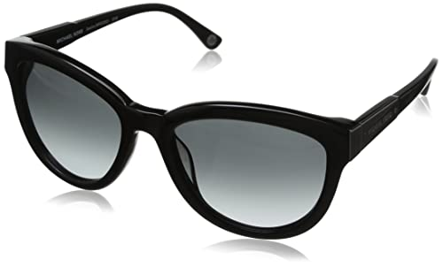 Michael Kors – Gafas de sol Ojos de gato MKS292 para mujer, Black frame / Black lens (019)