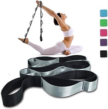 Amazon.com: SANKUU - Correa de yoga con 12 bucles, no ...