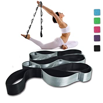 Amazon.com: Correa para yoga, multilao, 12 bucles, correa ...