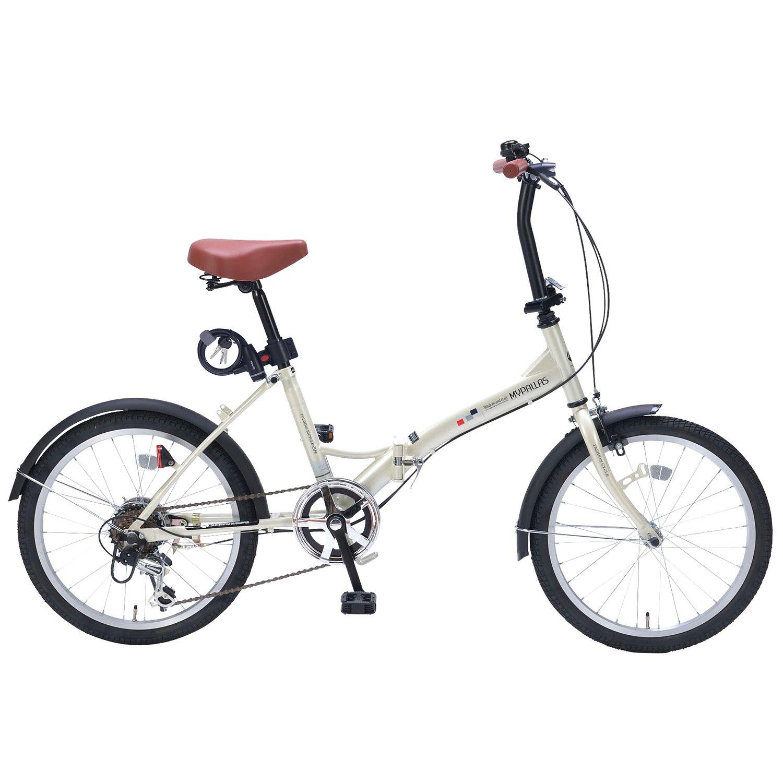 My Pallas(マイパラス) 折畳自転車20インチシマノ6段ギアライトカギ付 AZ-206FD2 B079ZS3BQ2 アイボリー アイボリー