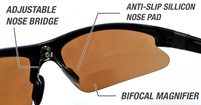 a127aff58c8 Eye Ojo Renegade Patented Bifocal Polarized Reader Half Rim Men s Fishing  Sunglasses 100% UV Protection larger image