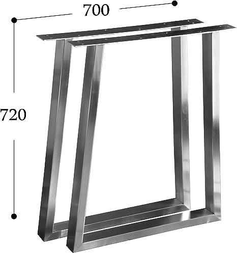 CHYRKA Estructura para tableros de Mesa Dise/ño pie de Mesa Acero Inoxidable 201 720x400 mm - 1 par Comedor Mesa Estructura Pata