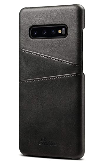 29c8d39f Wallet Case Compatible Samsung Galaxy S10 Plus (2019), 6.4 inches, Slim PU  Leather Back Case Cover Credit Card Holder Men Women for 2019 New Samsung  ...