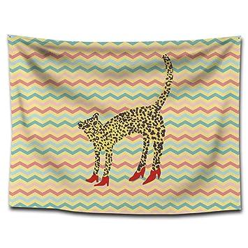 YHUJH Pintado a Mano tapicería de tapicería de Leopardo Manta Toalla de Playa Pintura para el