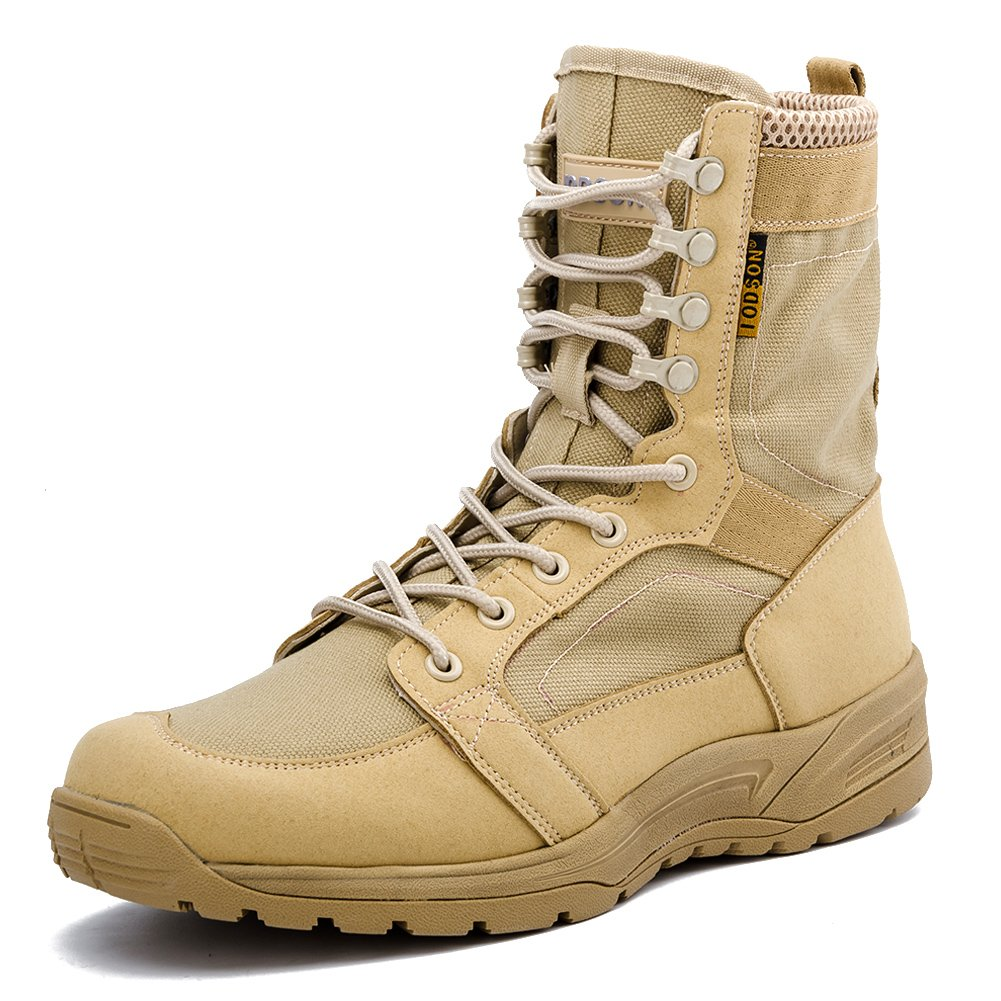 IODSON US Mens Ultra-Light Combat Boots Military Tactical Work Boots