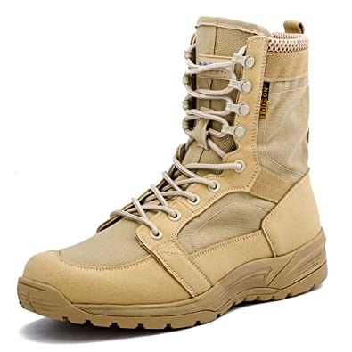 20fe83e794e IODSON US Mens' Ultra-Light Combat Boots Military Tactical Work Boots  Desert Boots IDS-852